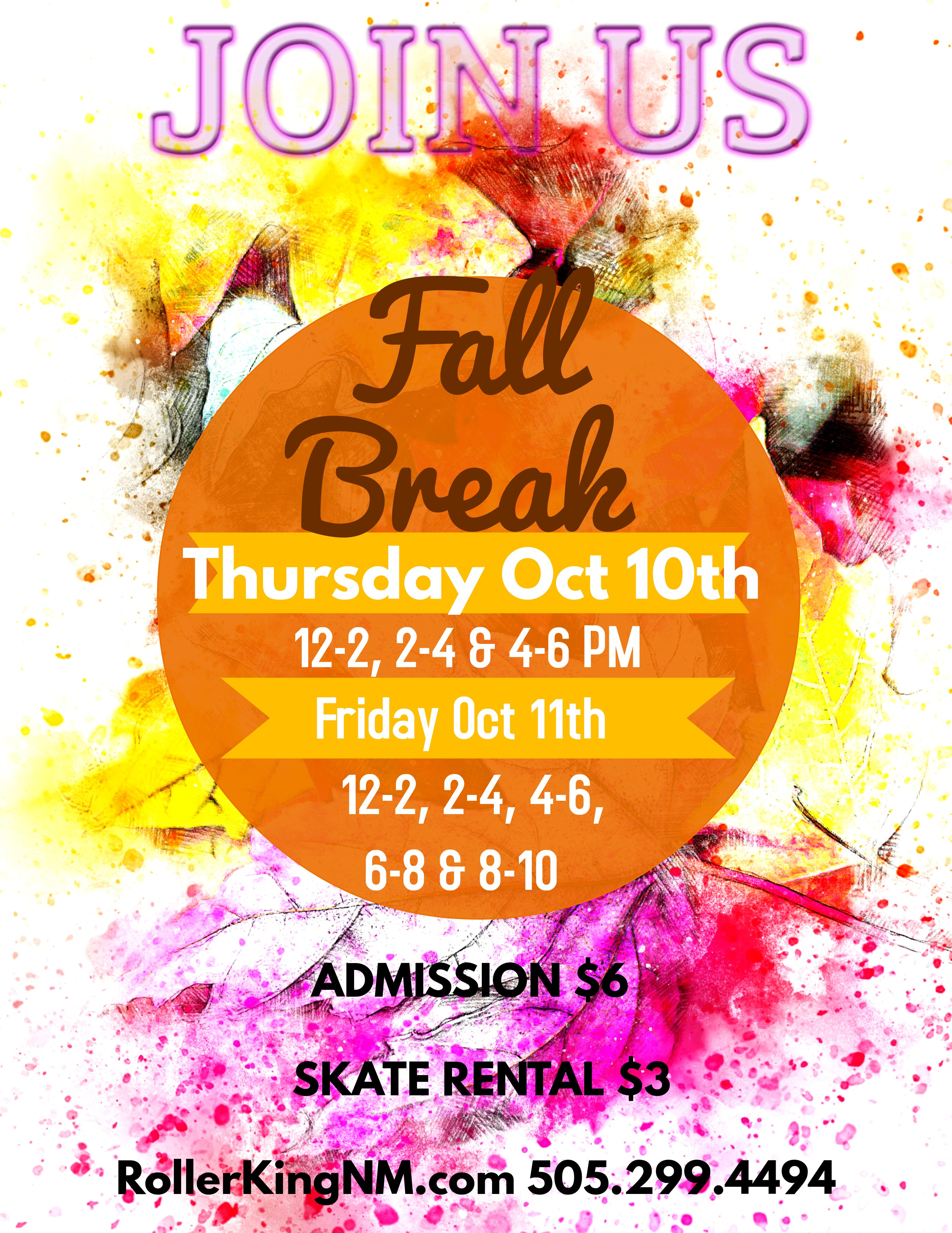 Fall Break flyer 2019